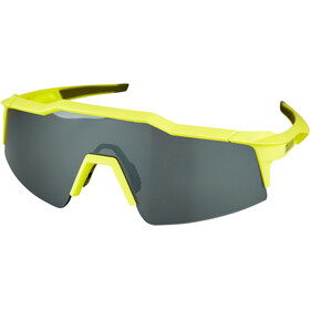 100% Speedcraft Occhiali S, soft tact banana/black mirror